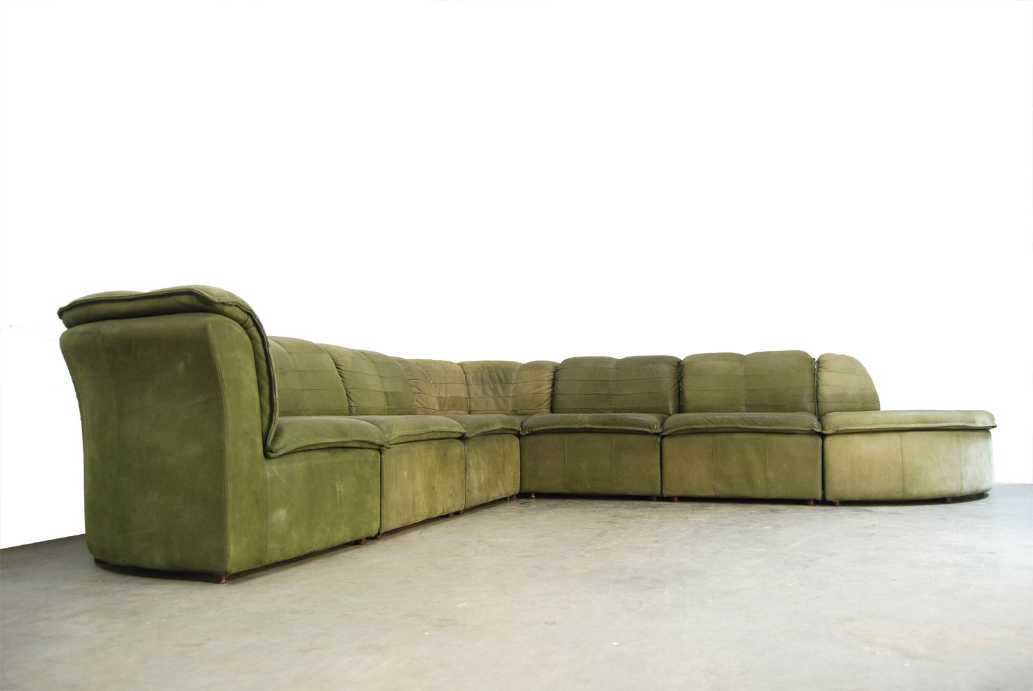 nubuck leather sofa carlyle nyc locations modular from laauser 1970s for sale