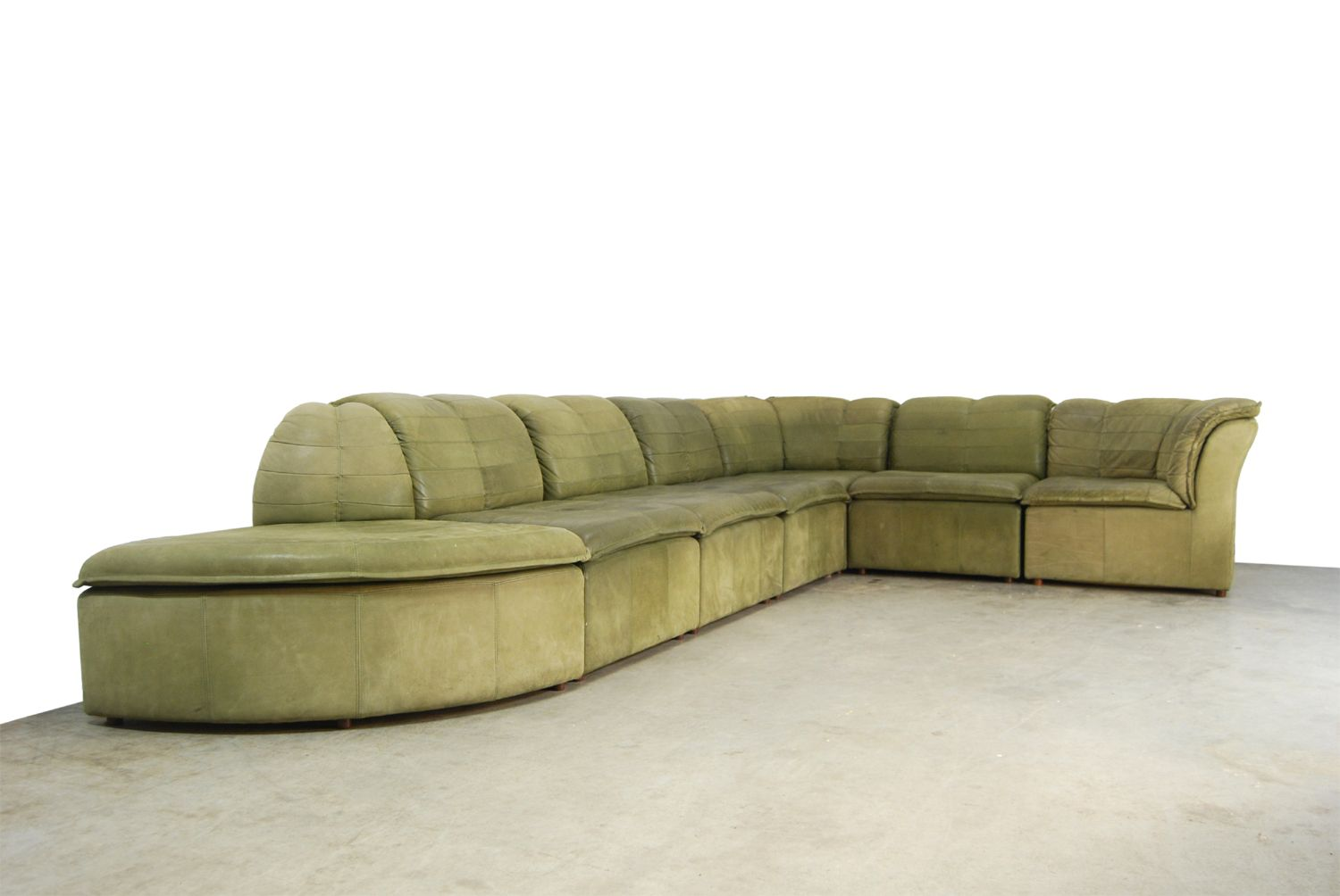 nubuck leather sofa foam cushion replacement modular from laauser 1970s for sale