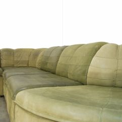Nubuck Leather Sofa Boston Modular From Laauser 1970s For Sale
