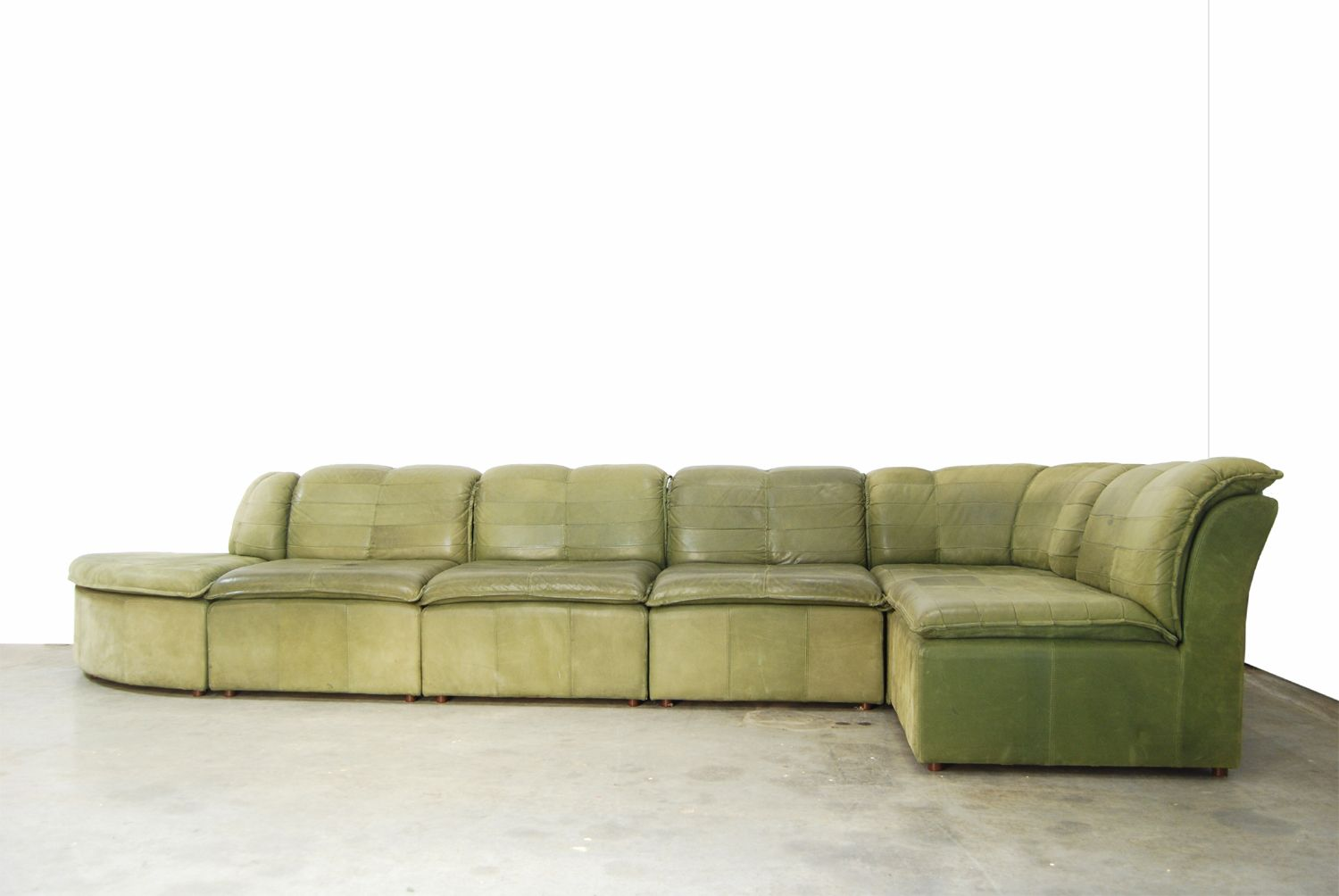 nubuck leather sofa chelsea room and board modular from laauser 1970s for sale