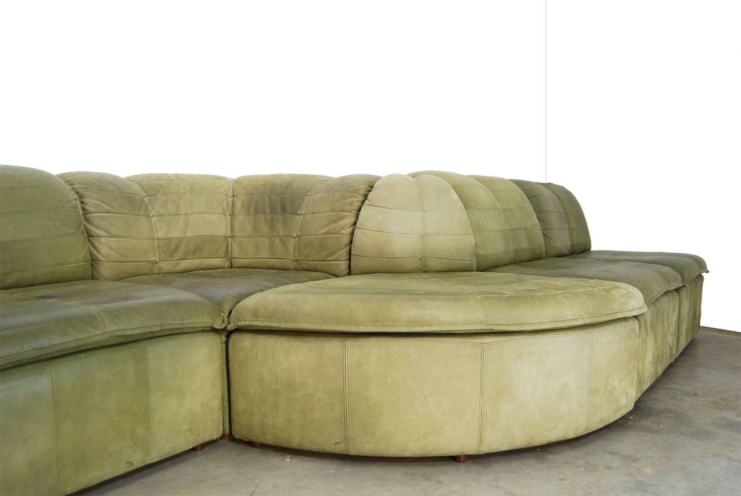 nubuck leather sofa kivik cover review modular from laauser 1970s for sale