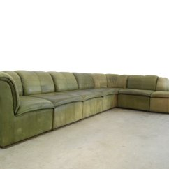 Nubuck Leather Sofa Queen Sleeper Couch Modular From Laauser 1970s For Sale