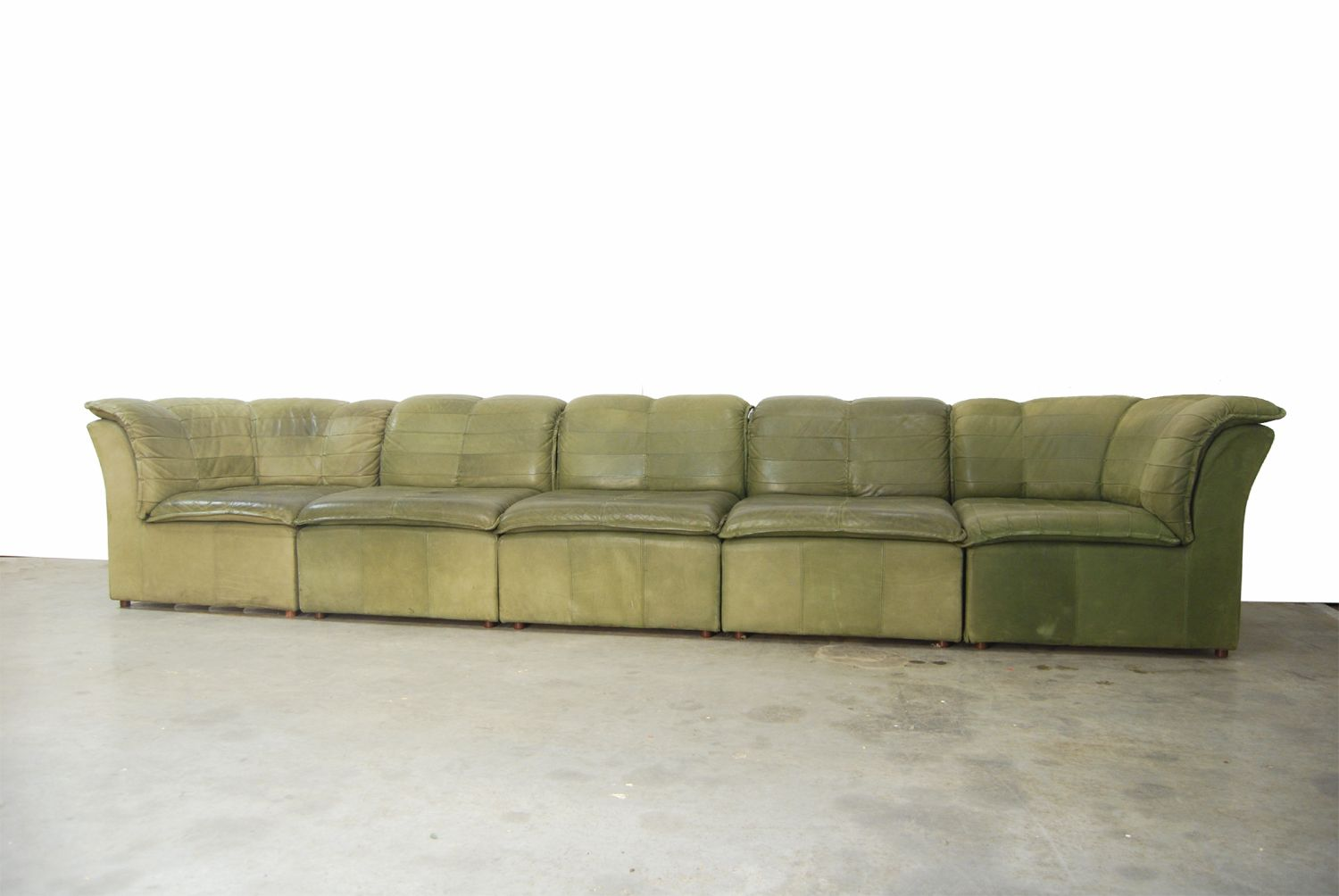 nubuck leather sofa gumtree edinburgh corner bed modular from laauser 1970s for sale