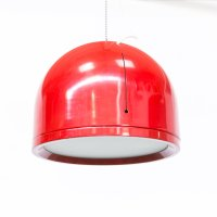 Vintage Red Pendant Hanging Lamp for sale at Pamono