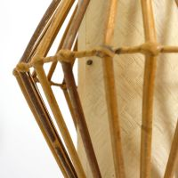 Vintage French Rattan Pendant Lamp for sale at Pamono