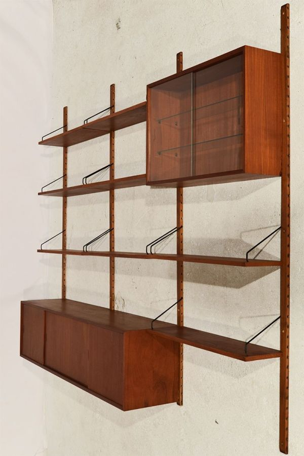 Danish Royal System Modular Wall Unit by Poul Cadovius for Cado, 1960s for sale at Pamono