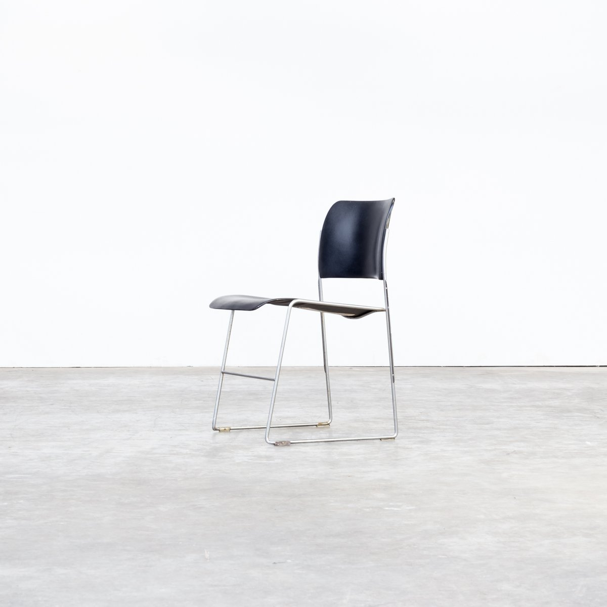 david rowland metal chair style chairs model 40 4 stacking by for