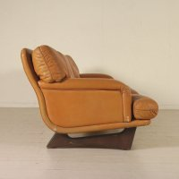Leather & Foam Padding Sofa, 1960s for sale at Pamono