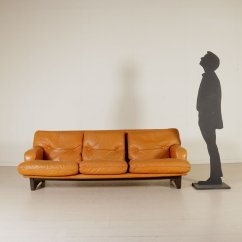 Sofa Foam Padding With Double Chaise Leather And 1960s For Sale At Pamono