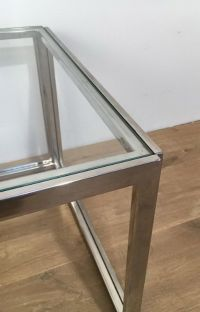 Chrome Side Tables, 1970s, Set of 2 for sale at Pamono