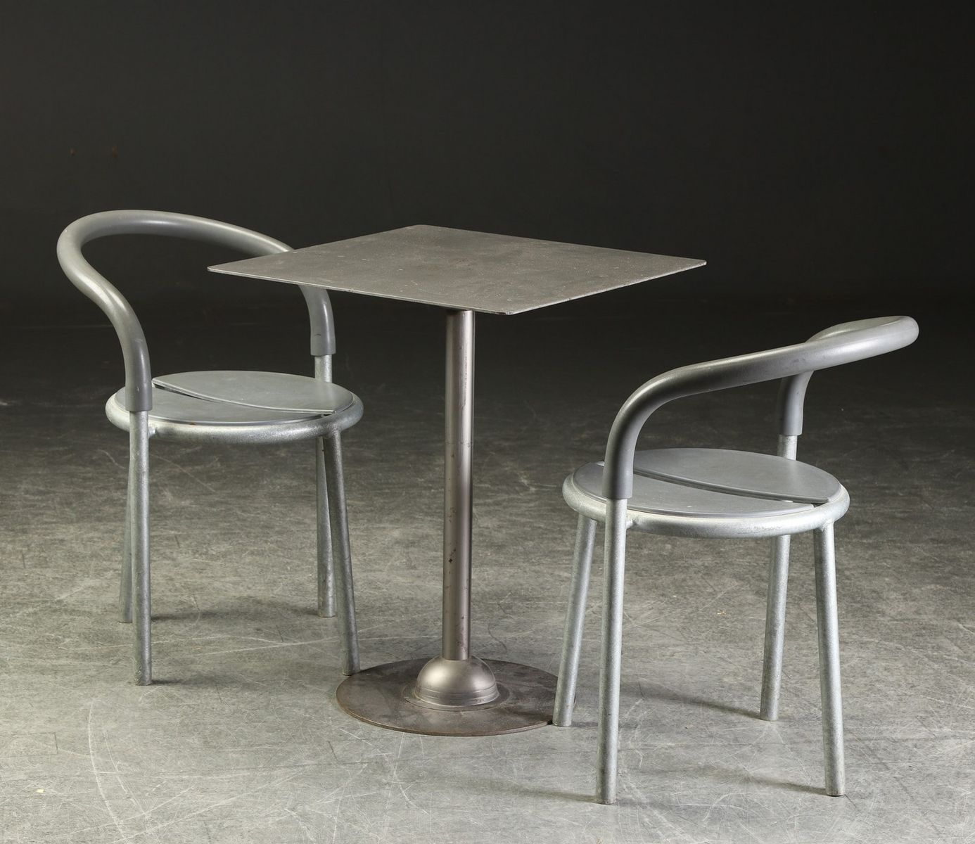 Table With 2 Chairs Vintage Metal Table 2 Chairs By Niels Gammelgaard Lars Mathiesen