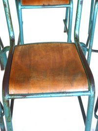 Vintage French Industrial Design Chairs, Set of 6 for sale