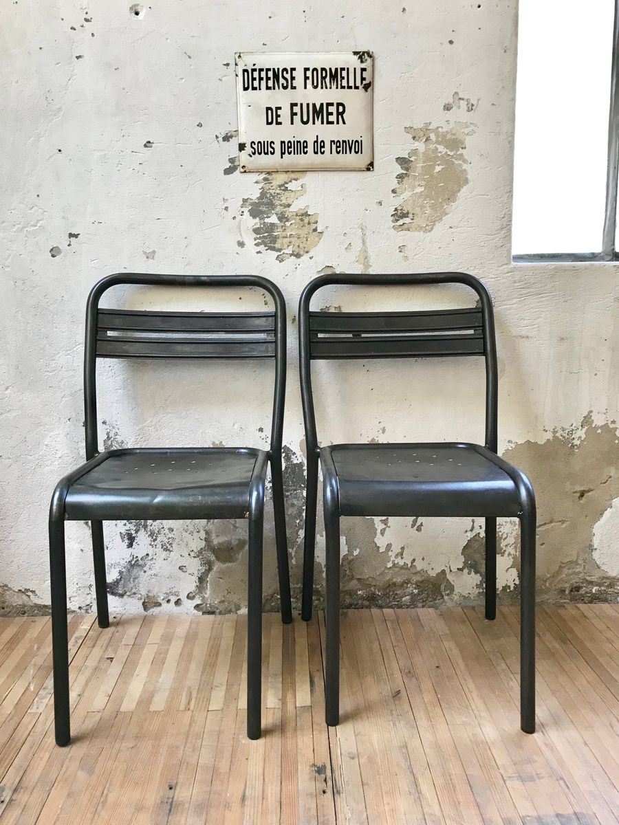 metal bistro chairs yoga sex chair vintage industrial set of 2 for sale at pamono