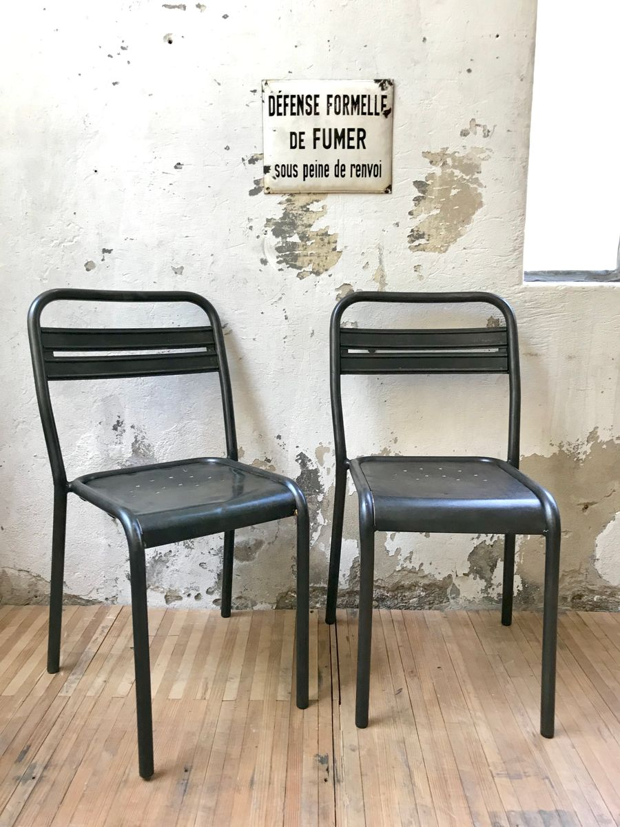 industrial bistro chairs swing chair cape town vintage metal set of 2 for sale at pamono
