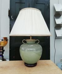 Vintage Celadon Table Lamp, 1950s for sale at Pamono