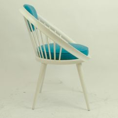 Co Chairs Circle Walmart Lawn White Lacquered Chair By Yngve Ekström 1960s For