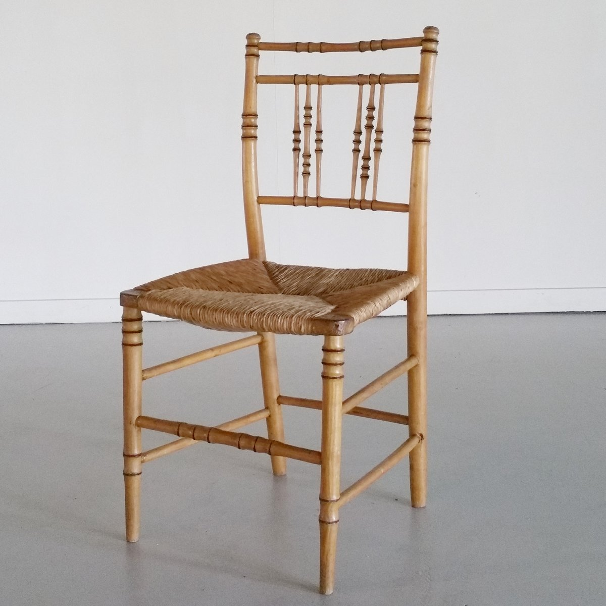 Bamboo Chairs 19th Century Faux Bamboo Chairs Set Of 6