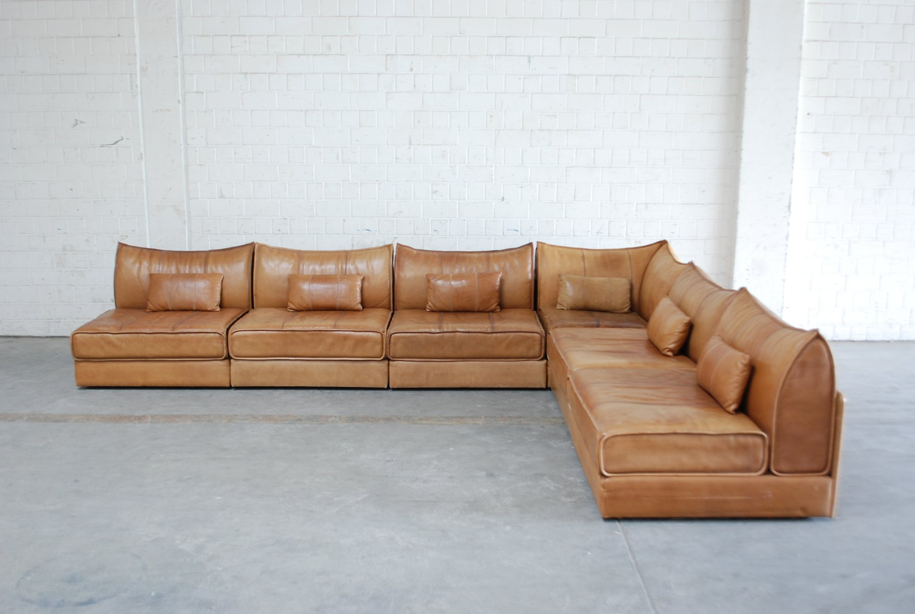 sofa army germany new model wood sets images vintage modular ds 19 in cognac leather from de sede
