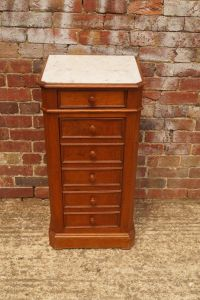 Nightstand with Marble Top, 1950s for sale at Pamono