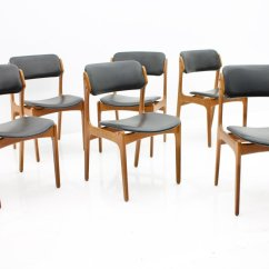 Teak Dining Room Chairs For Sale Lounge Ikea In And Leather By Erik Buch
