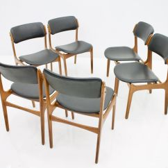 Teak Dining Room Chairs For Sale Little Castle Chair And Half Glider In Leather By Erik Buch