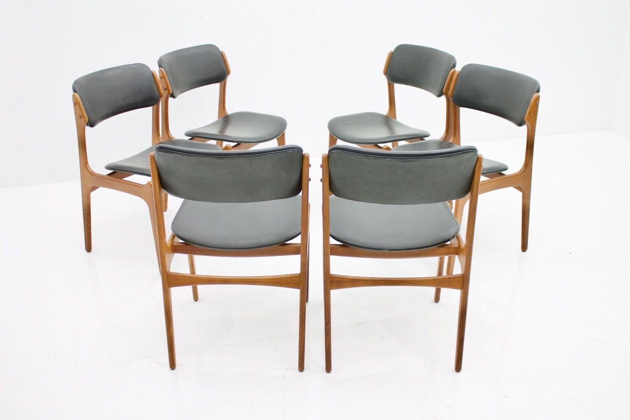 teak dining room chairs for sale ergonomic chair design in and leather by erik buch