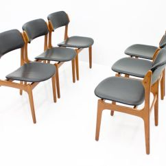 Teak Dining Room Chairs For Sale King Furniture In And Leather By Erik Buch