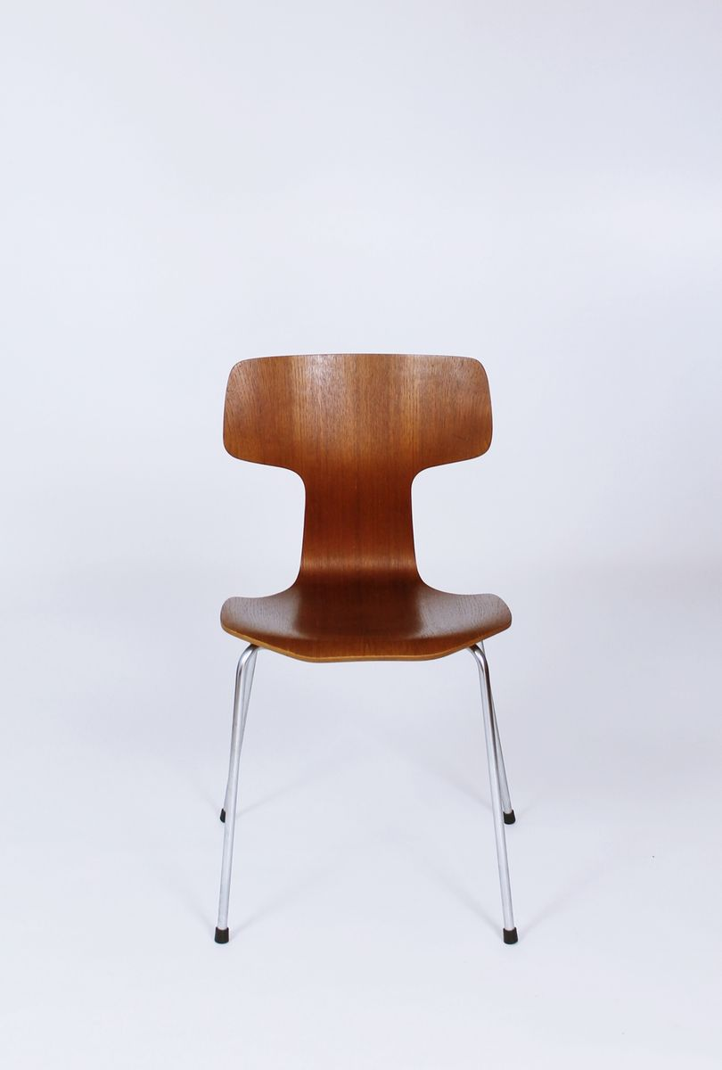Fritz Hansen Chairs Model 3103 Teak Dining Chairs By Arne Jacobsen For Fritz Hansen 1960s