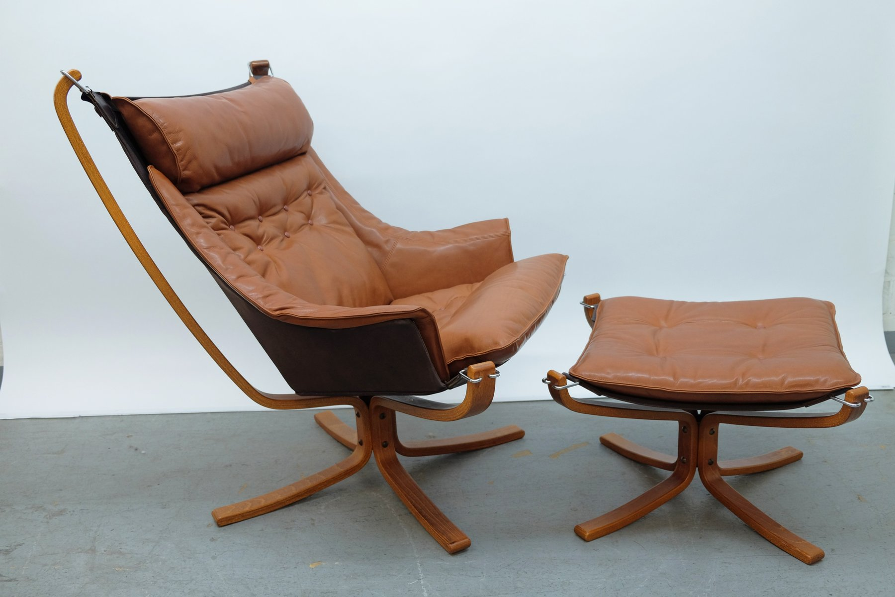 Falcon Chair Falcon Chair And Ottoman By Sigurd Ressell For Vatne Møbler 1970s