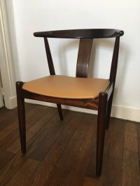 Vintage Scandinavian Rosewood & Leather Chair from Dyrlund ...