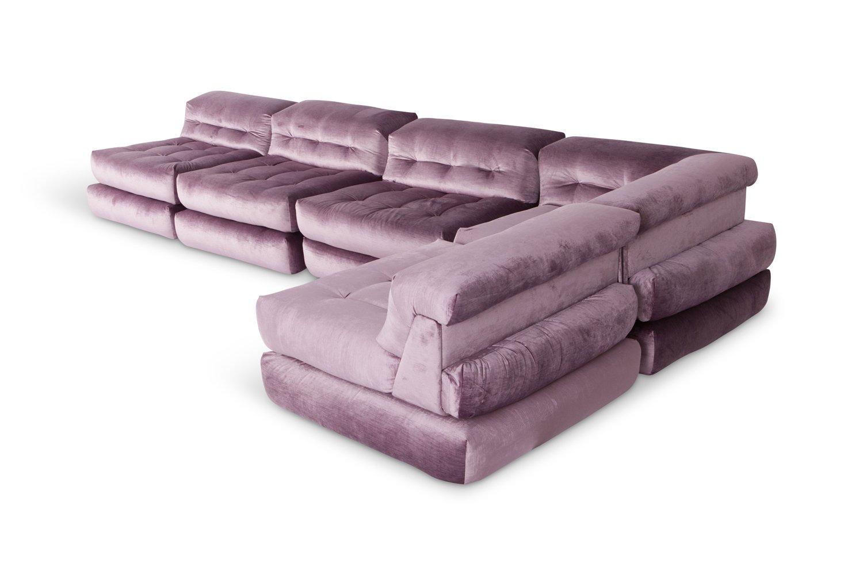 roche bobois mah jong modular sofa preis best home furnishings leather reviews modulares in lila samt von hans hopfer