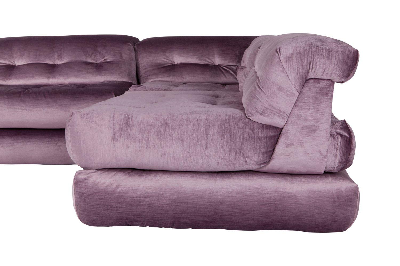 mah jong modular sofa preis shops london uk in purple velvet by hans hopfer