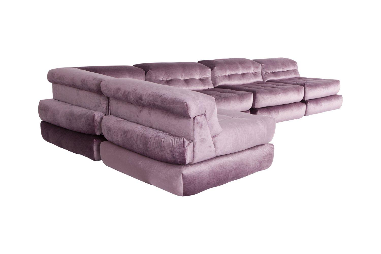 roche bobois mah jong modular sofa preis french country sofas and loveseats modulares in lila samt von hans hopfer