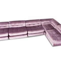 Roche Bobois Mah Jong Modular Sofa Preis Red And Black Leather Sets Modulares In Lila Samt Von Hans Hopfer