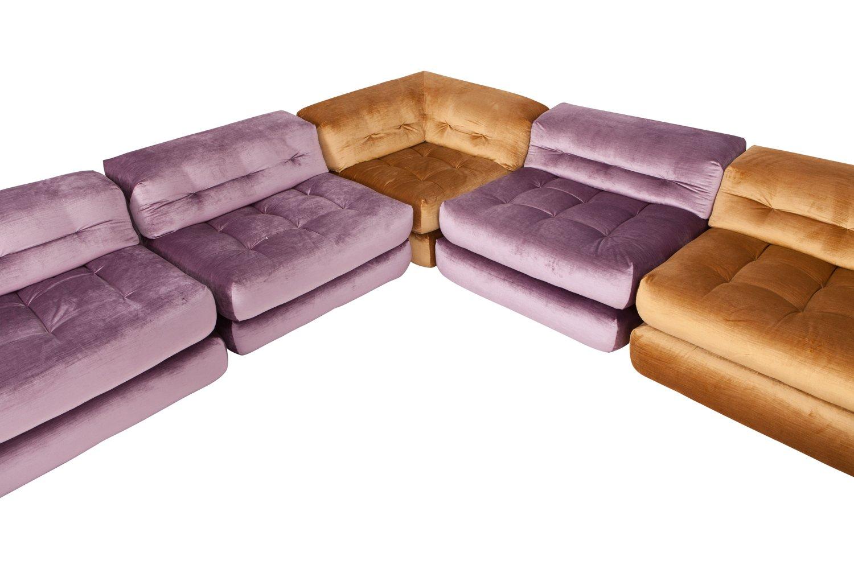 mah jong modular sofa preis outdoor furniture set in purple velvet by hans hopfer