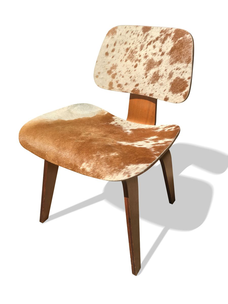 Cow Hide Chair Model Dcw Cow Hide Side Chair By Charles Ray Eames For Herman Miller 1946