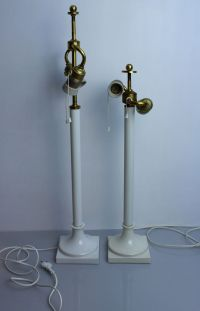 White Porcelain Table Lamps by Alice von Pechmann for KPM ...