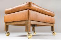 Mid-Century Swedish Merkur Lounge Chair & Ottoman by Arne ...