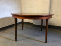 Vintage Danish Circular Extendable Dining Table by Frem ...