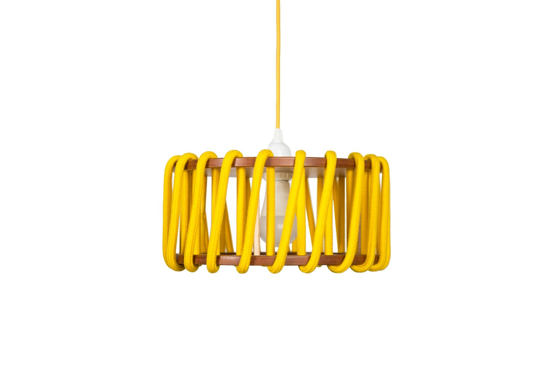 Small Yellow Macaron Pendant Lamp by Silvia Ceal for Emko