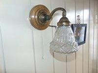 Art Nouveau Brass Sconce for sale at Pamono