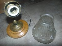 Art Nouveau Brass Sconce for sale at Pamono