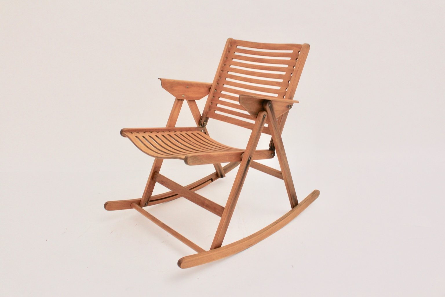 foldable rocking chair pads for chairs model rex by niko kralj 1950s sale at pamono price per piece