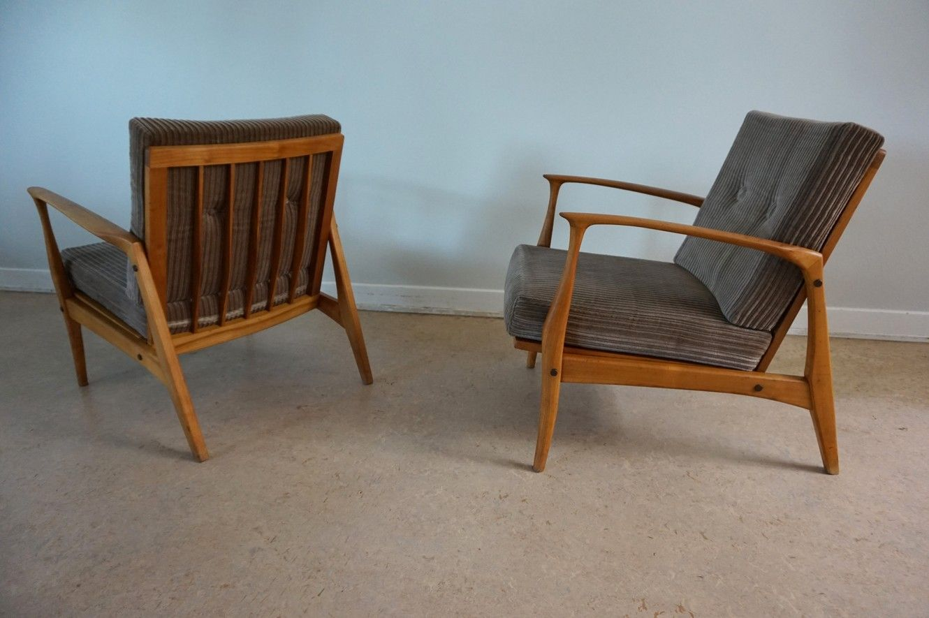 Selig Chair Lounge Chairs By Ib Kofod Larsen For Selig 1960s Set Of 2