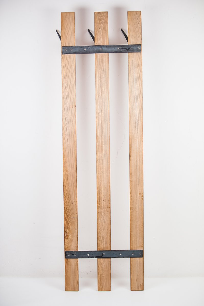 Cherry Coat Rack with Hooks by Walter Bosse for Hertha
