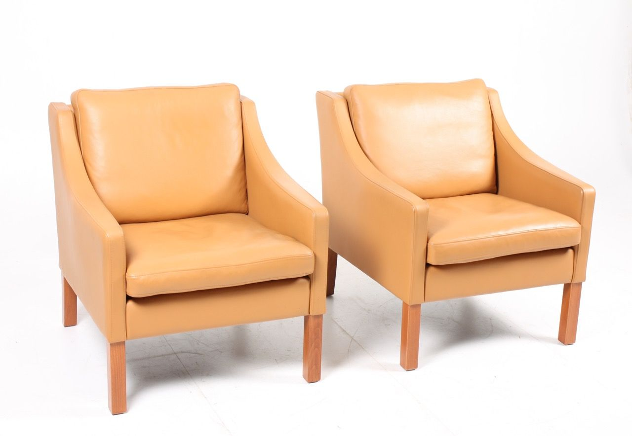 Chairs With Ottoman 2 Leather Lounge Chairs Ottoman By Takashi Okamura Erik Marquardsen For Skipper 1980s