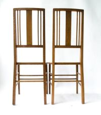 Antique Ebony & Pewter Inlay Side Chairs by Ambrose Heal ...