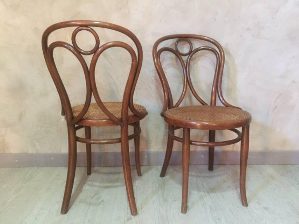 Set Of 2 Dining Chairs Antique Cane Dining Chairs From Thonet 1900s Set Of 2
