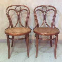 Antique Cane Chairs Desk Chair Mesh Seat Dining From Thonet 1900s Set Of 2 For Sale At