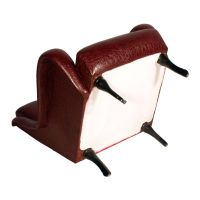 Mid-Century Leatherette Lounge Chair with Ebonized Wood ...